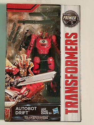 Transformers The Last Knight Movie Autobot DRIFT Deluxe Premier Edition