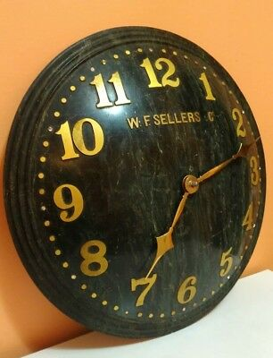 RARE 1930's SWISS ZENITH GREEN MARBLE WALL CLOCK W.F. SELLERS & CO. ALTOONA PA.