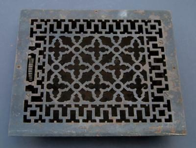 Antique Victorian Iron Floor Wall Register Grate Vent Cover Tuttle & Bailey