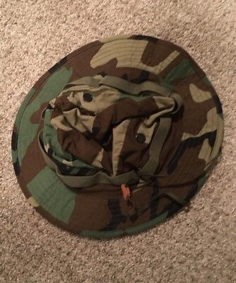 USMC Military Issue Camo Boonie Field Cover Hat Sz 7 1/2
