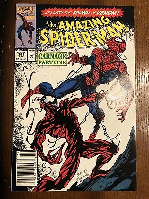 The Amazing Spider-Man #361 (Apr 1992, Marvel) NM- Newsstand 1st Carnage