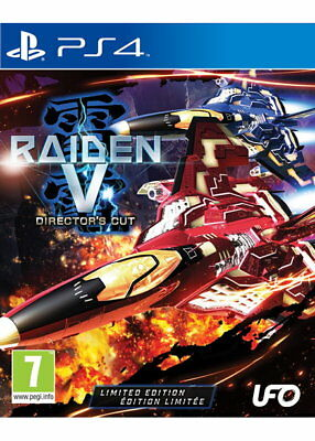 Raiden V (5) Director's Cut Limited Edition PS4 Region Free + Soundtrack CD New