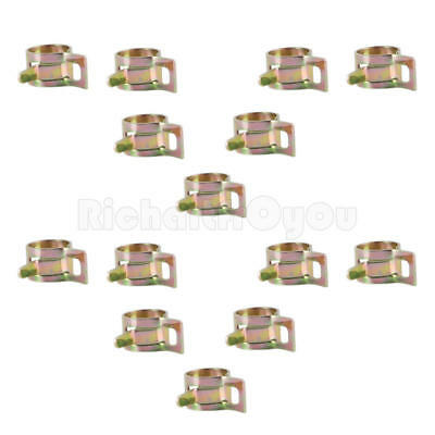 20 Pcs 8mm Spring Clip Fuel Oil Water Hose Pipe Tube Clamp Fastener Kit Pack
