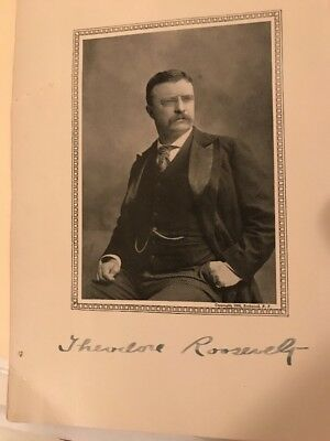 Theodore Roosevelt Torn Out  Page Autograph Signed Signature Nice LOOK President