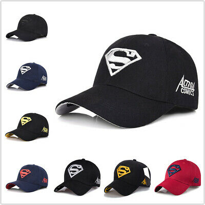 Men s Fashion Superman Baseball Cap Outdoor Sunscreen Cap Wild Leisure  Visor Hat d3d5315b40f
