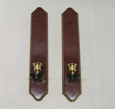 """Home Interior Homco Beautiful (Set of Two) Cherry Swirled Sconces"""""""