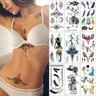 Women Jewelry Temporary Body Chest Waist Art Tattoo Sticker Sexy Choker Pendant