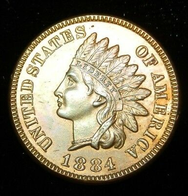 1884 Indian Head Cent - Proof like surfaces
