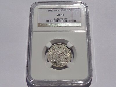 1923 Danzig Gulden Ngc Xf-45 No Reserve! Super Nice! Must See!!