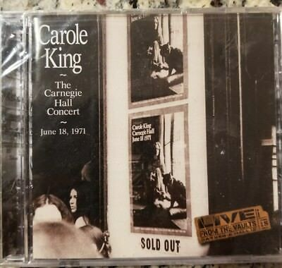 Carole King The Carnegie Hall Concert June 18 1971 Live from the Vaults NEW CD