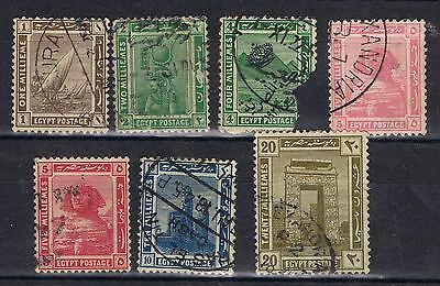 Egypt 1914 Definitives selection to 20 mi Used