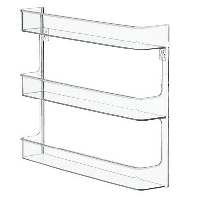 Bathroom Accessories Vanity Wall Mount Nail Polish Storage Rack Shelves Clear