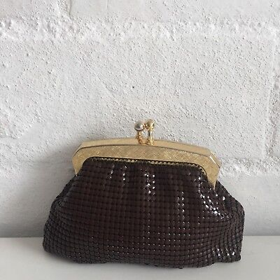 CUTE Vintage MESH Purse Coin Evening Cocktail Pill Case