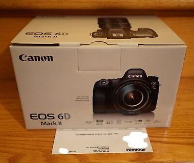 NEW Canon EOS 6D Mark II 2 Full-Frame DSLR 26.2MP WiFi Camera Body WARRANTY