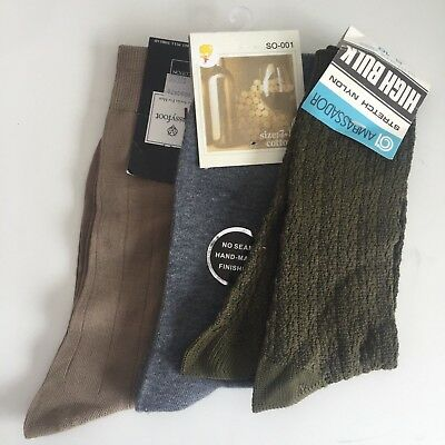 Three Pairs Of VINTAGE Socks UNUSED NEW Nylon Cotton PUSSYFOOT