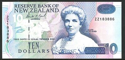 New Zealand Mint $10 88gsm Replacement ZZ 183886 Blue Back Banknote issue p182bR