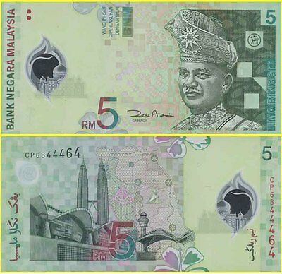 Malaysia Mint 2004 1st Prefix CA 5211353 5 Ringgit Polymer Banknote Issued p47a