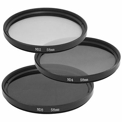 58mm ND2 ND4 ND8 Neutral Density Filters For Canon 60D 70D 600D 700D 1100D LF62