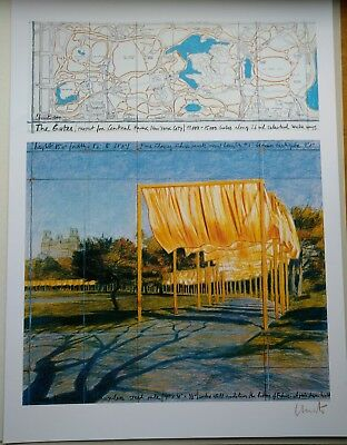 "CHRISTO und JEANNE-CLAUDE "" THE GATES "" FARB - LITHOGRAPHIE"