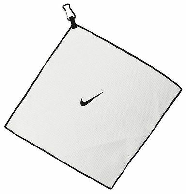 "Golf Nike Microfiber Cart Tour Towel White 14"" X 14"" NEW 35cm x 35cm"