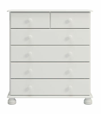 2+4 Chest of Drawers in Painted White Traditional Bedroom Range