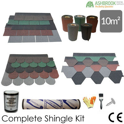 Roofing Felt Shingles | Shed Roof Felt Tiles | m² Roof Pack | Ridge Roll Pack