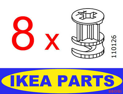 8 Pcs Ikea Cam Lock Nuts 110126 Parts Furniture Malm Drawer Bed Fastener