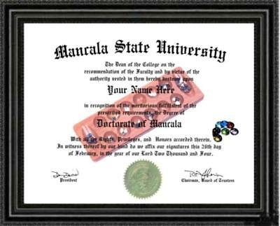 Mancala Enthusiast Diploma / Degree Custom Made and Designed For YOU Unique Gift