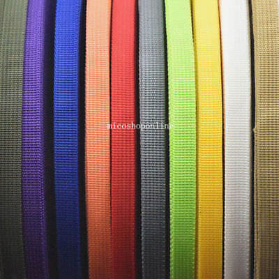 "Polypropylene Webbing 1/2"" 12.5mm Use for Robbin Belt Strap Buckle Fabric Craft"
