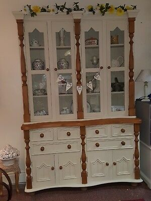 Beautiful Farmhouse Solid Pine Dresser Sideboard Cupboard Cabinet Shabby Chic