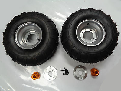 8 Inch Wheel With Hub & Adapter For 25Mm Axle Pair