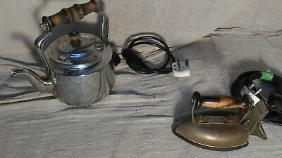 old Electric Iron, and kettle