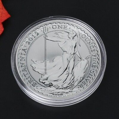 5X 38.6mm Round Acrylic Coin Capsule Clear Storage Holder For Silver Coin 1 oz