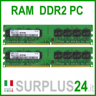 SAMSUNG KIT RAM 4Gb (2x2Gb) PC2-6400U DDR2-800Mhz 240pin Memoria x DESKTOP NoEcc