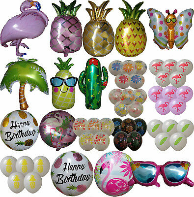 Tropical Flower Flamingo Pineapple Cactus Sunglasses Balloon Hawaii Luau Party