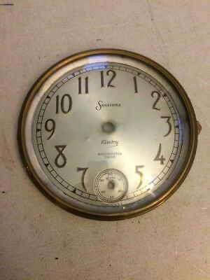 Sessions Electric Tambour Mantle Clock Dial And Bezel With Glass Westminster