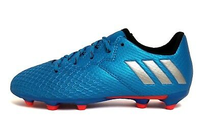 8e75a9c15 ADIDAS KIDS  MESSI 16.3 FIRM GROUND Soccer Shoes Blue Silver S79622 ...