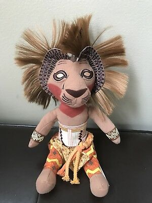 "SIMBA 10"" Plush Toy from ""The Lion King Broadway Musical"" DISNEY VGUC"