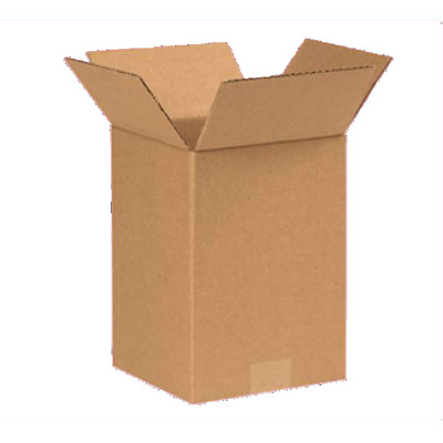 Cardboard Postage Boxes Single Wall Postal Mailing Small Parcel Box 7 x 7 x 10""