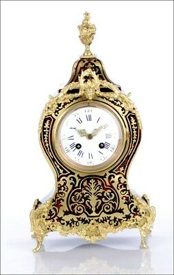Fine Antique Boulle Mantel Clock. Fully Restored. France, Circa 1870