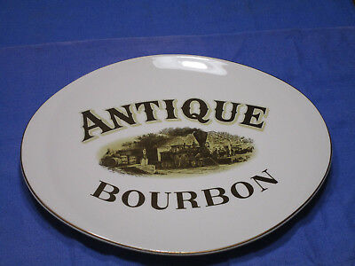 Vintage ANTIQUE BRAND BOURBON advertising platter by Canonsburg pottery EUC