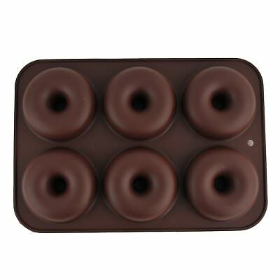 6 Cavity Silicone Donuts Mould Chocolate Candy Muffin Candy Making Molds Tray BR
