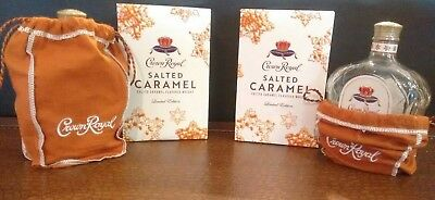 Limited Edition (1) Crown Royal Salted Caramel Empty Bottle, Bag & Box