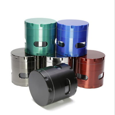 2.5inch 4layer Zinc Alloy Herb Mill Crusher Tobacco Smoke Grinder With Windows