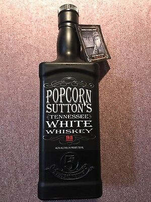 Rare Collectible Popcorn Sutton's Tennessee White Whiskey Bottle (Empty)