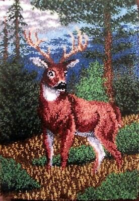 "Craftways Elk  Latch Hook Rug  Kit  "" Standing Proud"""