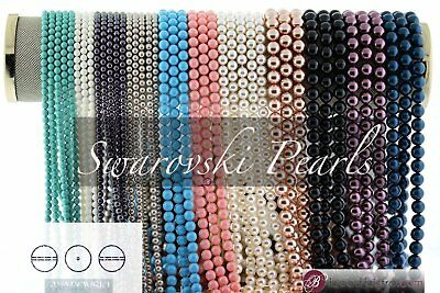 Swarovski Pearls 3mm, 4mm, 6mm, 8mm,10mm (45 Colors) Round Pearl Beads #5810