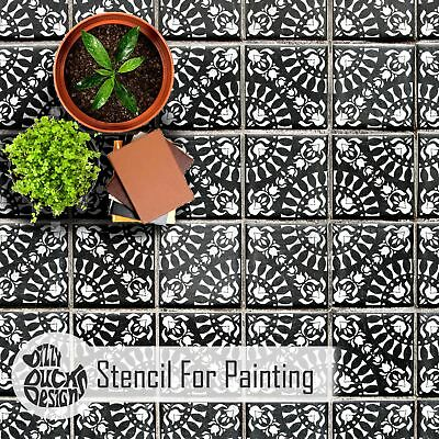 LAYA Tile Wall Furniture Floor Stencil for Painting