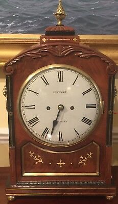 Regency bracket clock, maker Robert Unthank listed working in Stokesley c1835
