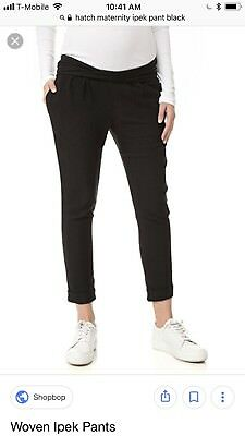 NWT Hatch Collection Maternity Ipek Pant Black Size 3